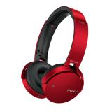 Sluchátka SONY MDR-XB650BT bezdrátová handsfree, červené