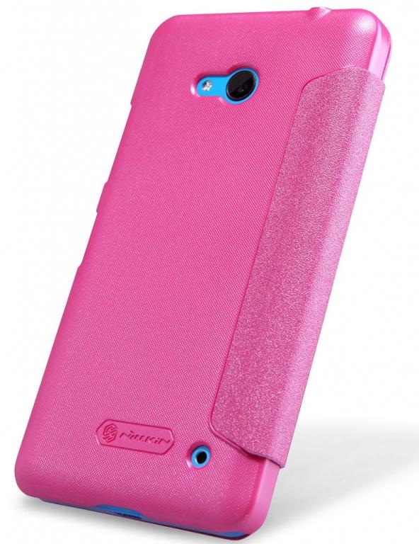 Pouzdro Nillkin Sparkle Folio na Nokia Lumia 435 růžové