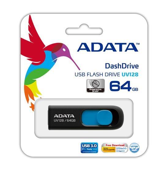 Flash disk ADATA USB UV128 32GB modrý