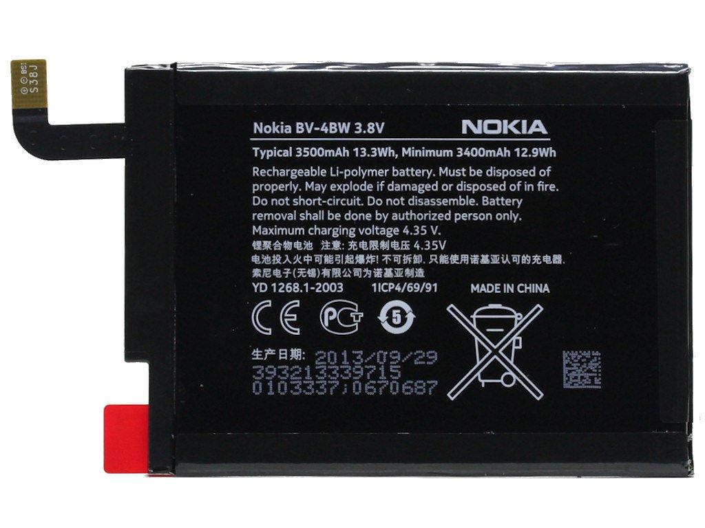 Baterie pro mobilní telefony BV-4BW 3400 mAh Li-Pol Nokia