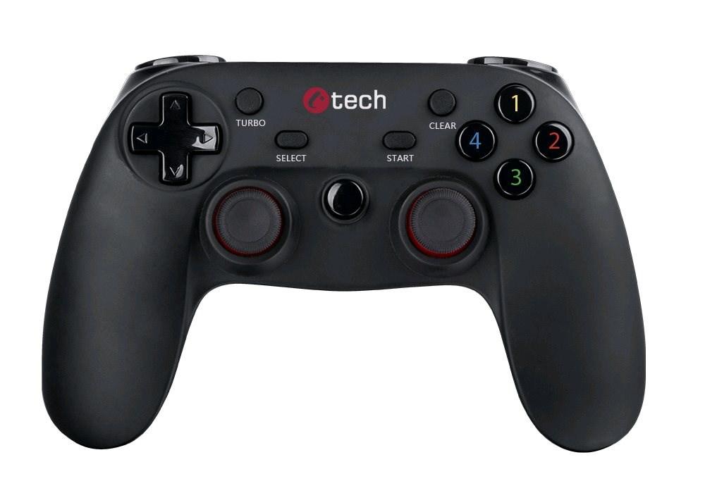 Gamepad C-TECH Lycaon pro PC/PS3/Android bezdrátový, vibrační