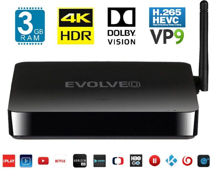 Multimediální centrum EVOLVEO Android Box H8 16GB/3GB Octa-core
