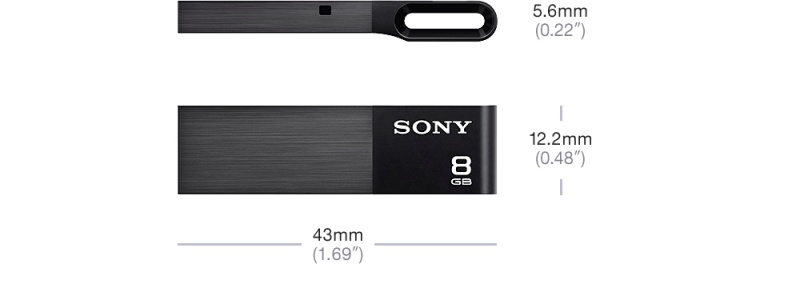 Flash disk Sony W-serie USB 2.0, 8GB, černý