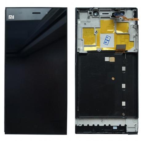 LCD displej + Dotyková deska + přední kryt pro Xiaomi Mi3 Black