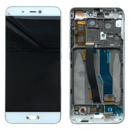 LCD displej + Dotyková deska + přední kryt pro Xiaomi Mi 5 White