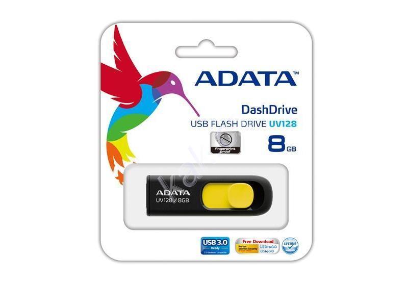 Flash disk ADATA USB UV128 16GB žlutý