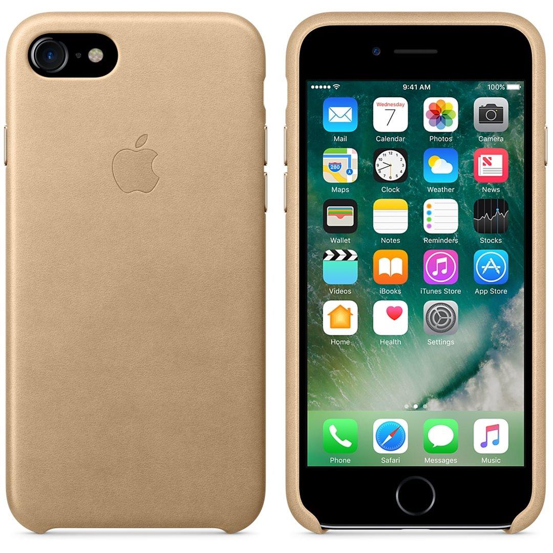 Kožené pouzdro pro Apple iPhone 7 Tan