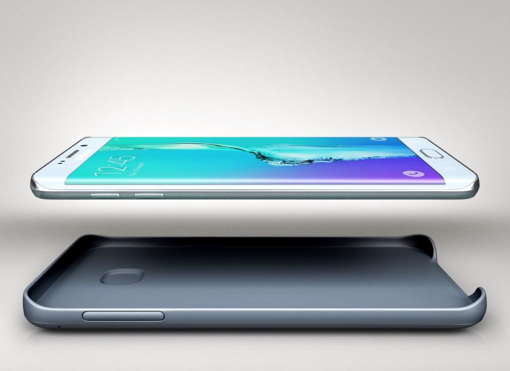Samsung sada pro bezdrátové nabíjení EP-TG928BSE pro Galaxy S6 Edge+ stříbrná