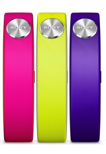 Náhradní řemínky pro Sony SWR110 SmartBand vel. L, fialová, žlutá, bílá