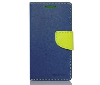Flipové pouzdro pro Samsung A300 Galaxy A3 Fancy Diary modro/limetkové