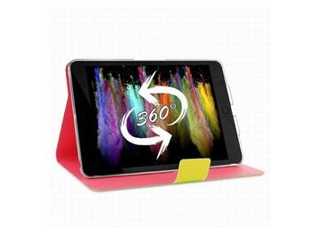 PURO BI-COLOR 360° pouzdro flip Apple iPad Air žluté/růžové