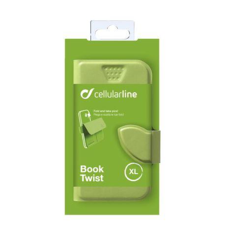 Cellularline STYLE&COLOR pouzdro flip FLEXY vel. XL zelené