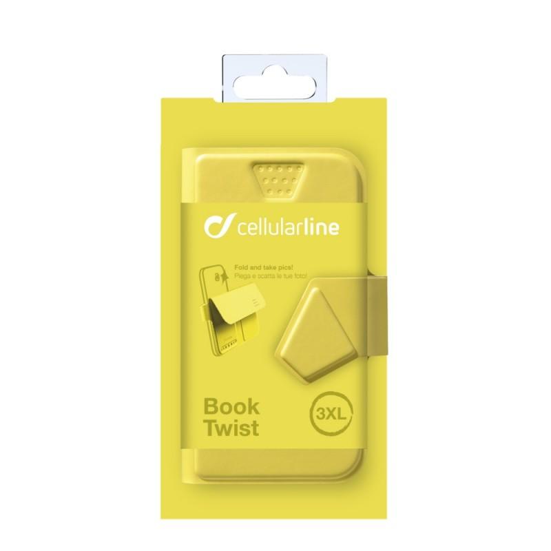 Cellularline STYLE&COLOR pouzdro flip FLEXY vel. 3XL žluté