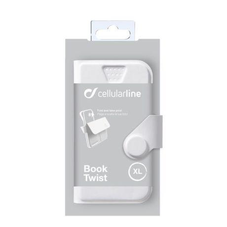 Cellularline STYLE&COLOR pouzdro flip FLEXY vel. 3XL bílé