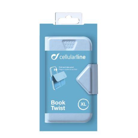 Cellularline STYLE&COLOR pouzdro flip FLEXY vel. XL modré