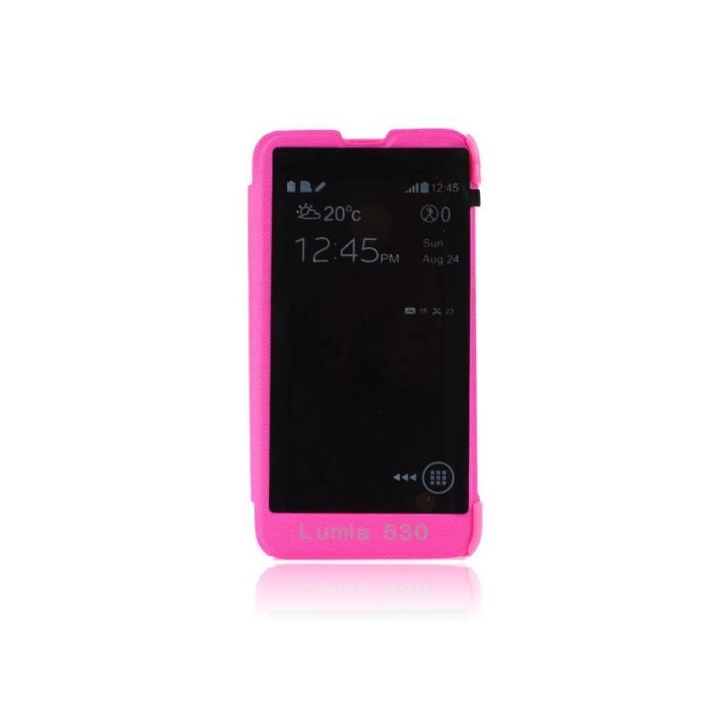Forcell S-View flipové pouzdro na Nokia Lumia 530 růžové