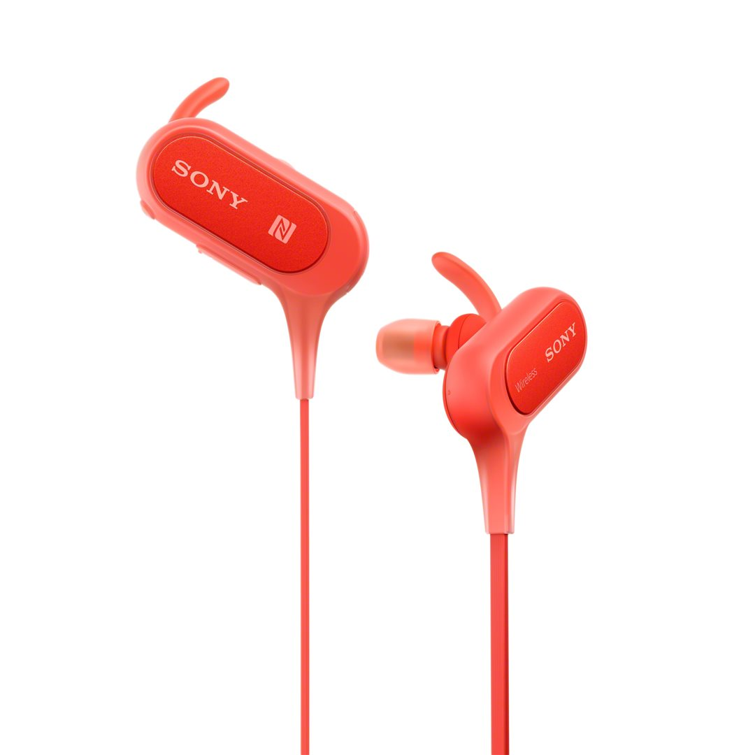 SONY Sluchátka ACTIVE MDR-XB50BS Handsfree červená