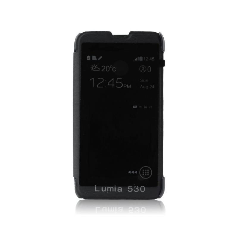 Forcell S-View flipové pouzdro na Nokia Lumia 530 černé
