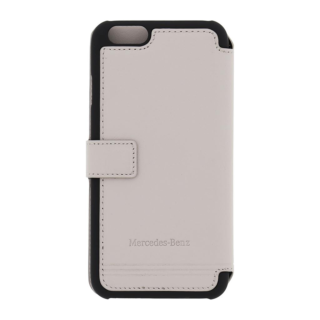 MEFLBKP6EMSGR Pouzdro flip Mercedes Book Grill iPhone 6/6s šedé