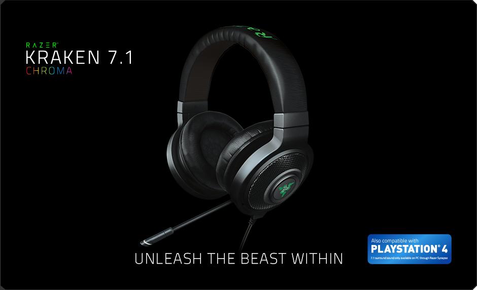 Razer Kraken 7.1 Chroma FRML USB Gaming Headset černý