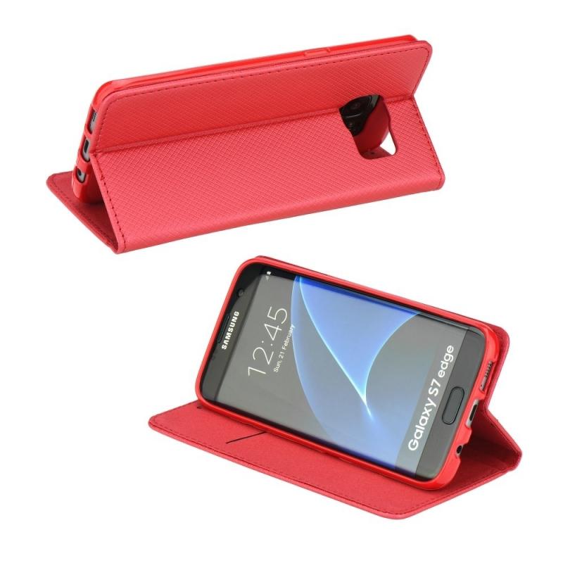 Smart Magnet flipové pouzdro Huawei Y6 II / Honor 5A červené