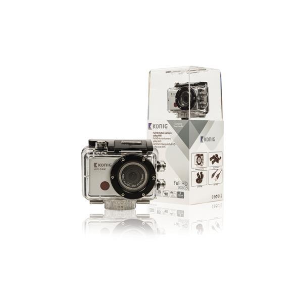 Kamera KÖNIG akční Full HD 1080p, vodotěsná, WiFi - CSACW100