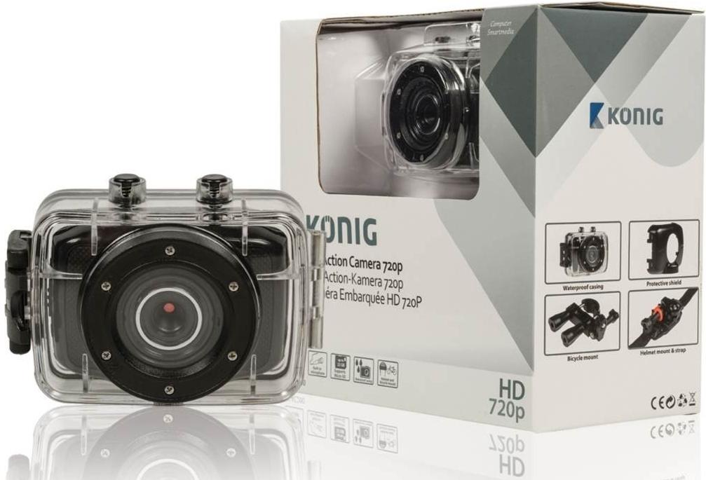 Kamera KÖNIG akční HD kamera 720p, vodotěsná - CSAC200