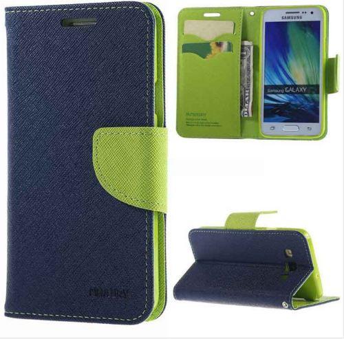 Flipové pouzdro pro Asus Zenfone2 ZE500 Laser Fancy Diary modro/limetkové