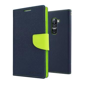 Flipové pouzdro pro Huawei P8 Lite Fancy Diary modro/limetkové