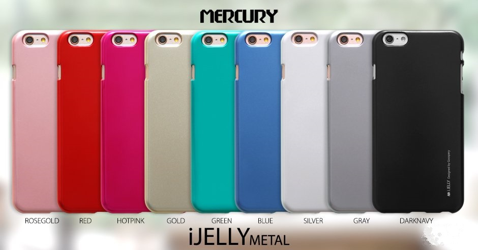 Silikonové pouzdro Mercury i-Jelly METAL pro Apple iPhone 5S/SE, Rose Gold