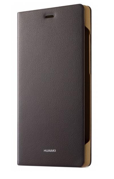 Originál Folio flipové pouzdro pro Huawei P8 Lite hnědé