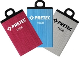 Flash disk Pretec i-Disk Elite 16GB USB 2.0 Silver