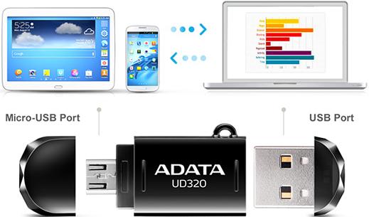 OTG flash disk ADATA UD320 32GB USB 2.0