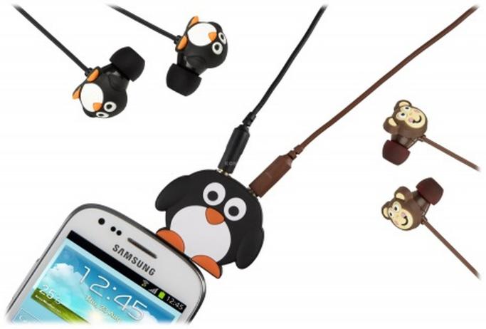 Rozdvojka na sluchátka My Doodles Penguin - Tučňák