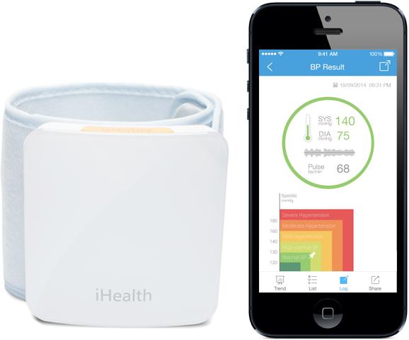 Bluetooth zápěstní měřič krevního tlaku iHealth BP7