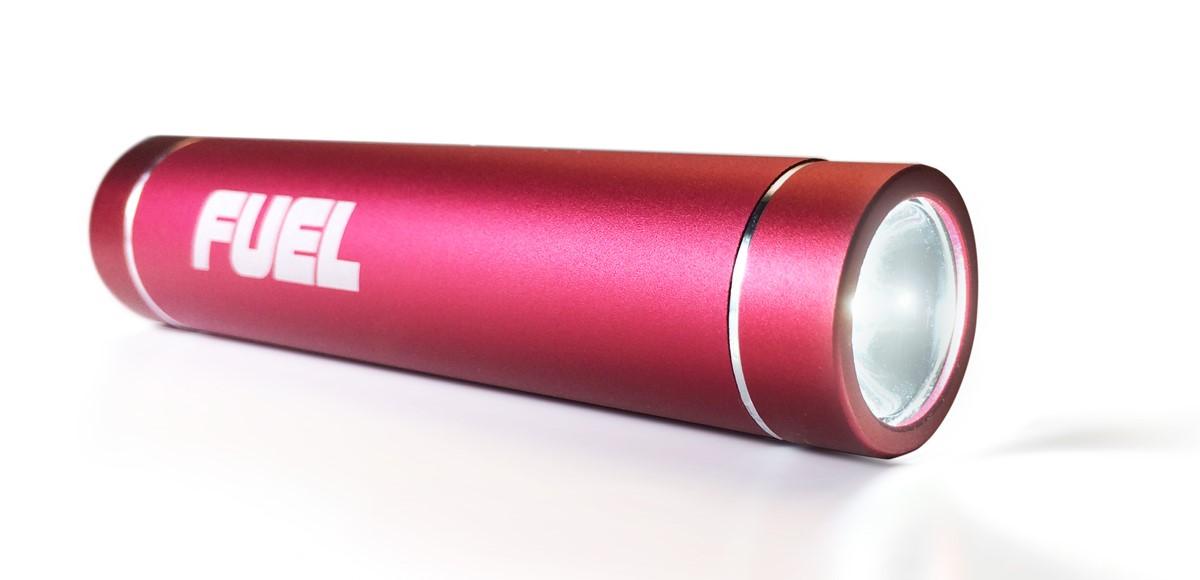 Patriot Power Bank 2600mAh+LED baterka, červená
