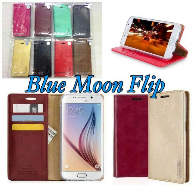 Flipové pouzdro pro Samsung A510 Galaxy A5 (2016) Mercury Blue Moon Red