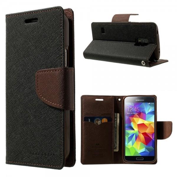 Mercury Fancy Diary flipové pouzdro pro Samsung G357 Galaxy Ace 4 černo-hnědé