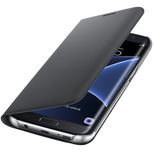 Flipové pouzdro typ peněženka pro Samsung S7 Edge, černé