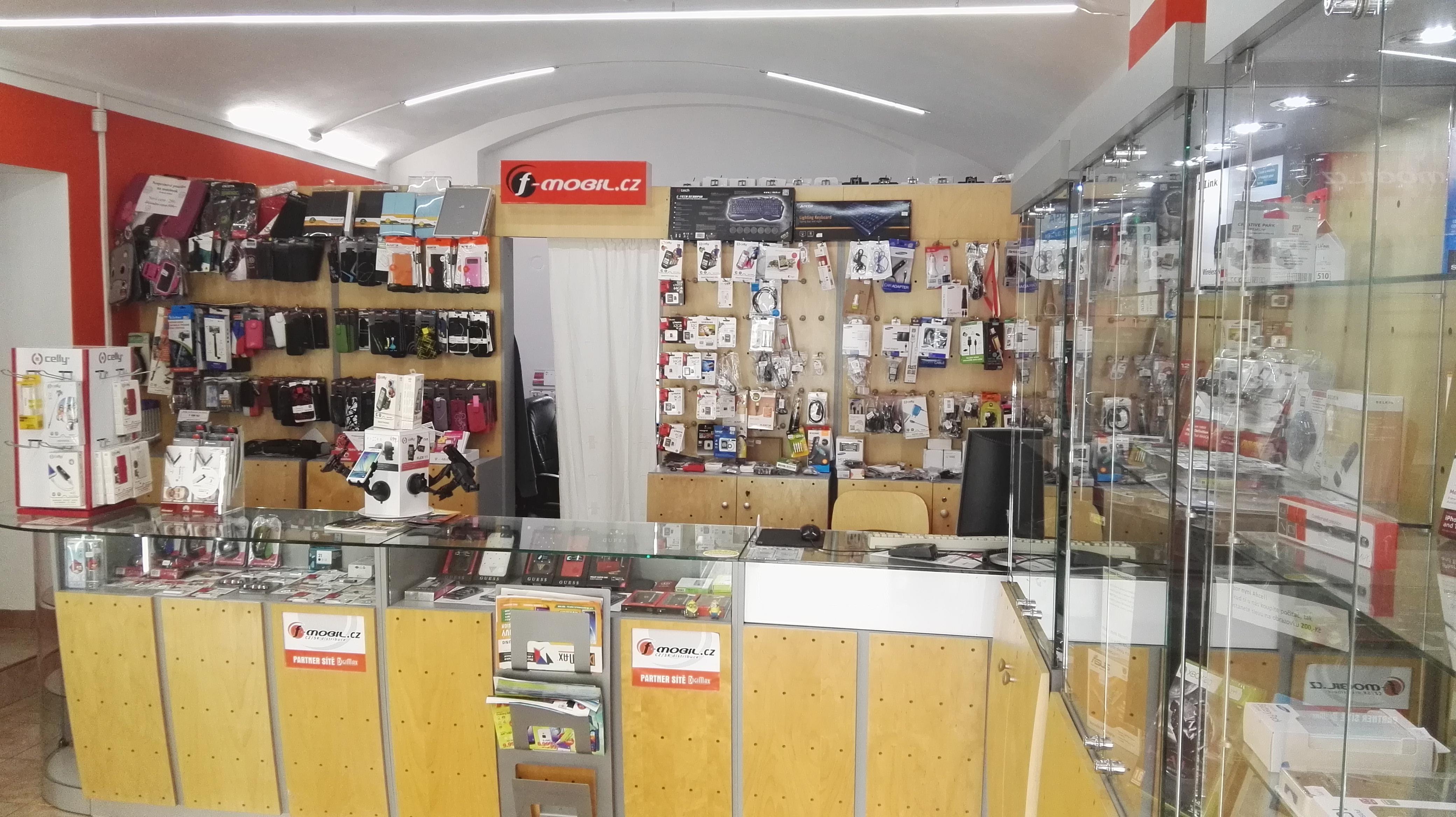Interiér naší prodejny F-mobil Horažďovice
