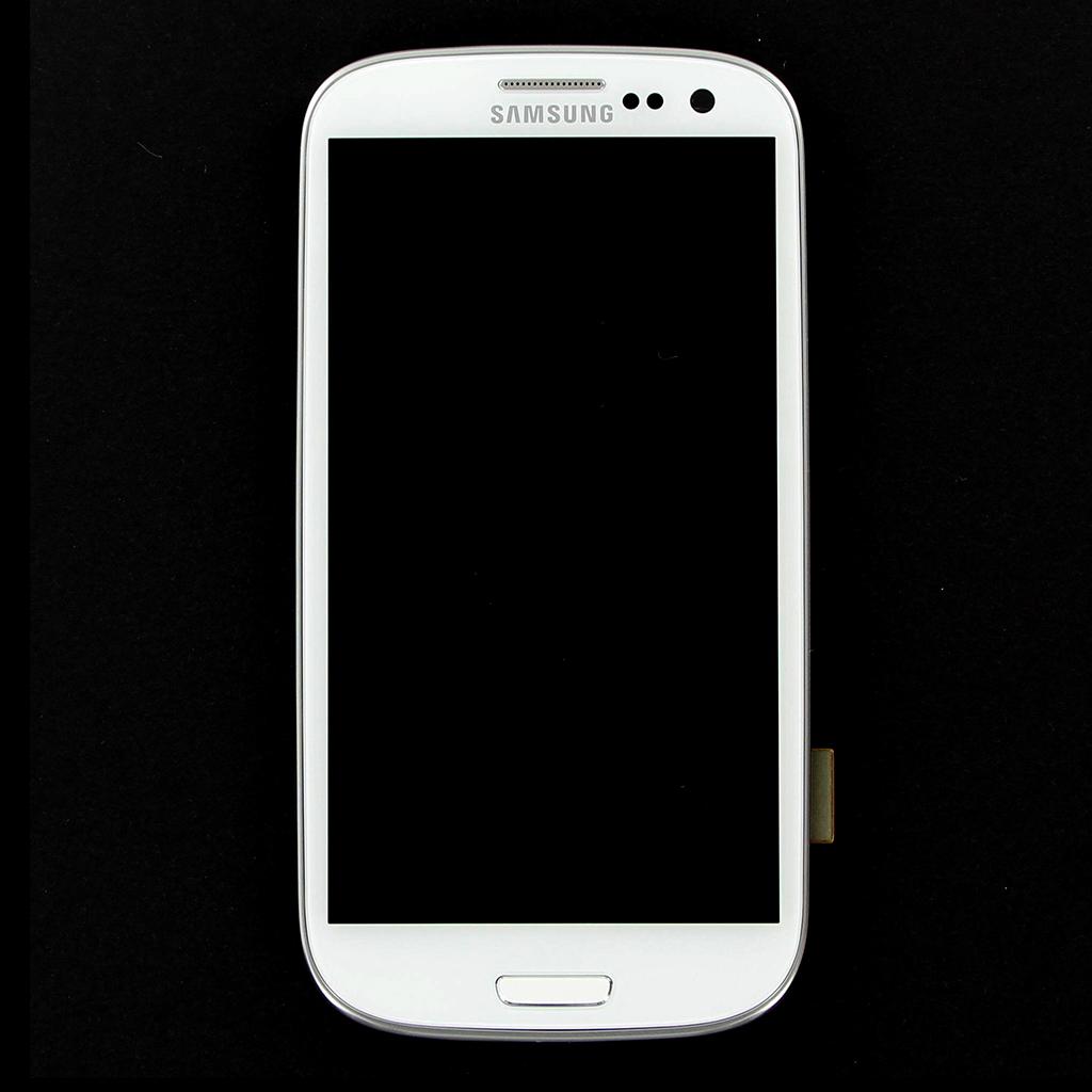 LCD Display + Dotyková Deska + Přední Kryt White pro Samsung i9305 Galaxy S3 LTE - originál