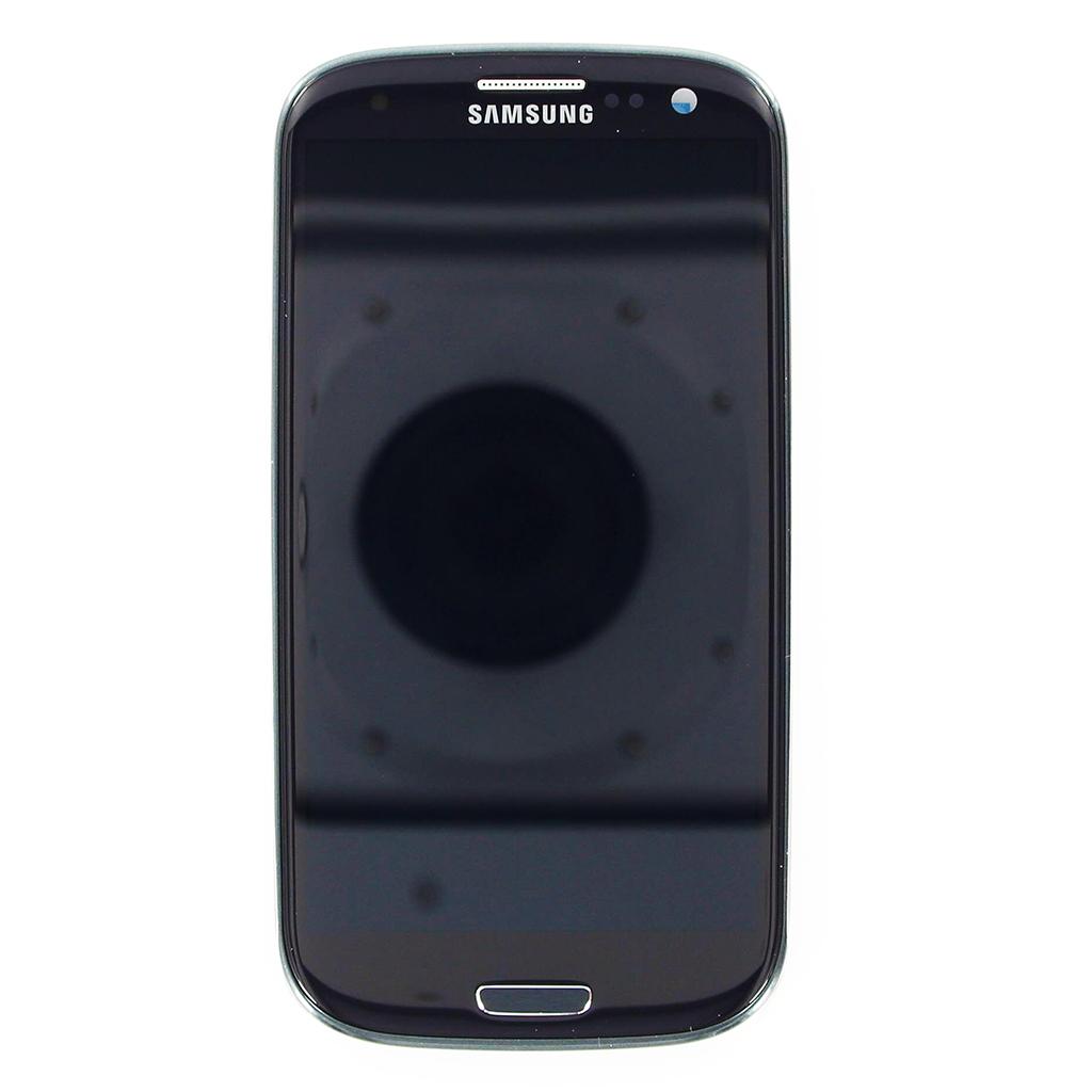LCD Display + Dotyková Deska + Přední Kryt Black pro Samsung i9300 Galaxy S3 - originál