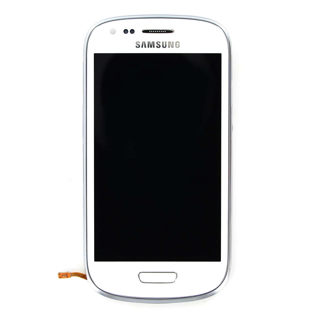 LCD display + Dotyková deska + Přední kryt White pro Samsung i8190 Galaxy S3mini - originál