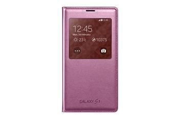 Pouzdro na mobil Samsung Galaxy S5 EF-CG900BPE S-view růžové
