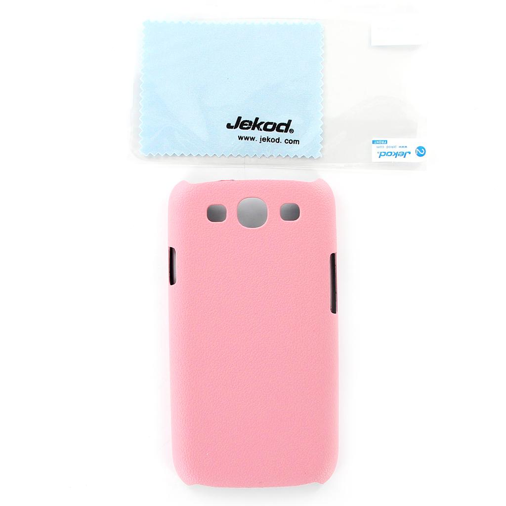 Kožené pouzdro JEKOD Shield pro Samsung i9300 Galaxy S3 Pink (růžové)