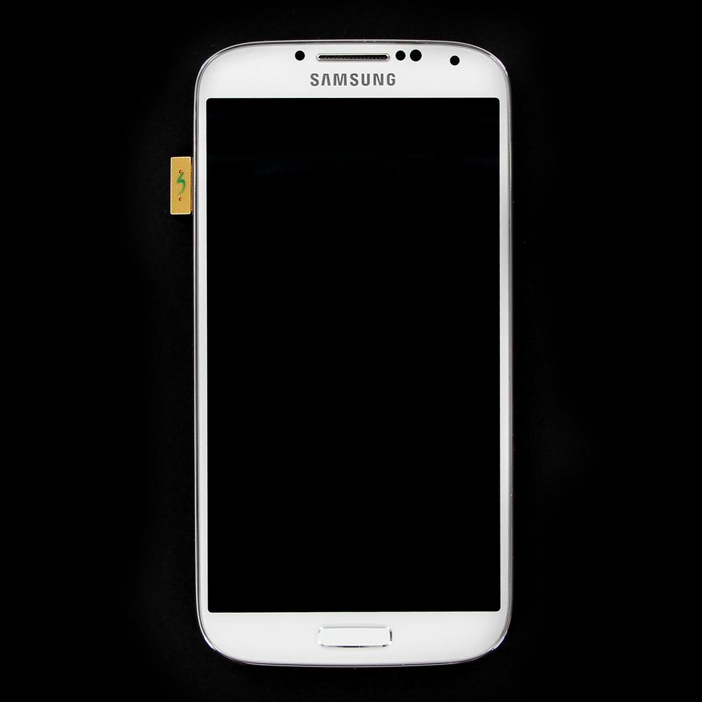 LCD Display + Dotyková Deska + Přední Kryt pro Samsung i9505 Galaxy S4 White