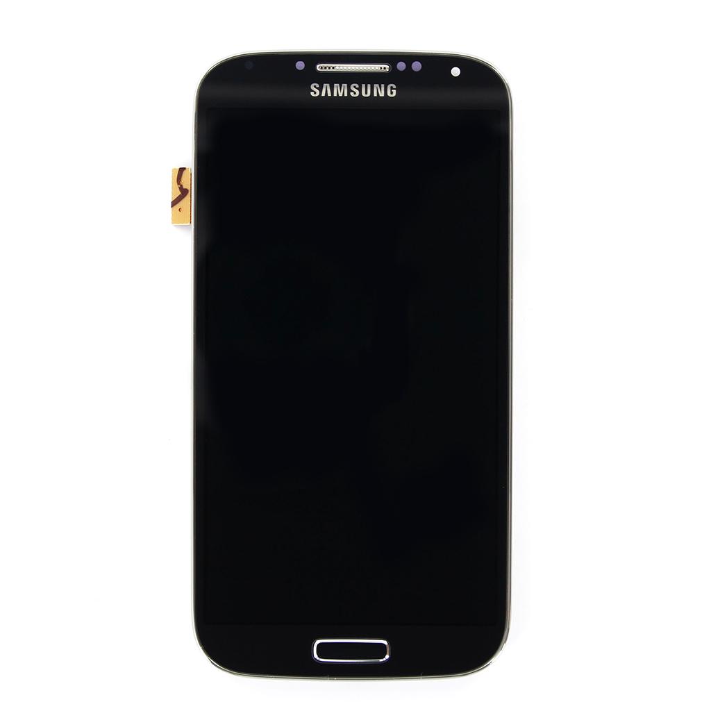 LCD Display + Dotyková Deska + Přední Kryt Black pro Samsung i9500 Galaxy S4 - originál