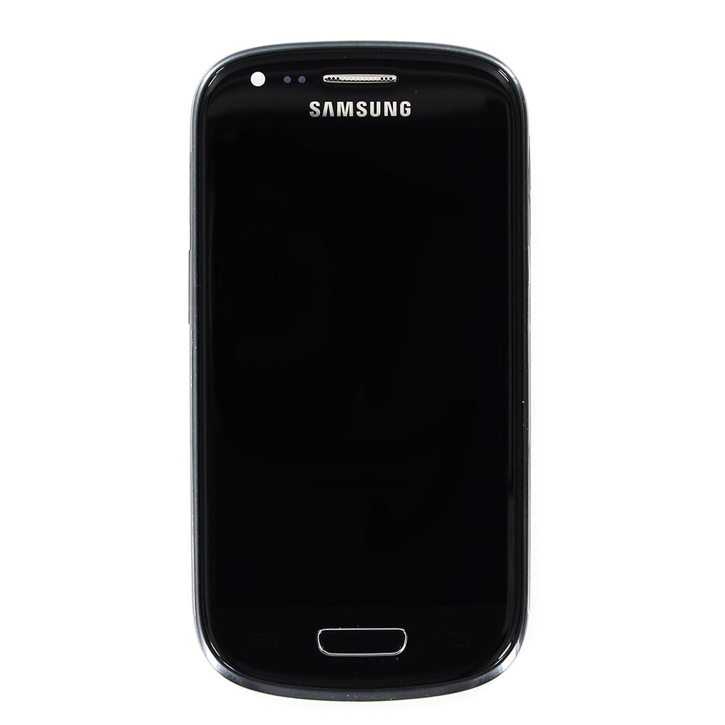 LCD display + Dotyková plocha + Přední kryt Black pro Samsung i8190 Galaxy S3mini - originál