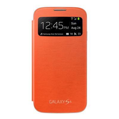 Flipové vyklápěcí pouzdro Samsung Flip S-view EF-CI950BOE pro Samsung Galaxy S4 i9505,i9500 Orange