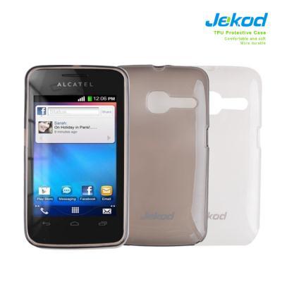 Silikonové pouzdro na mobil JEKOD TPU Alcatel T'Pop 4010D černé